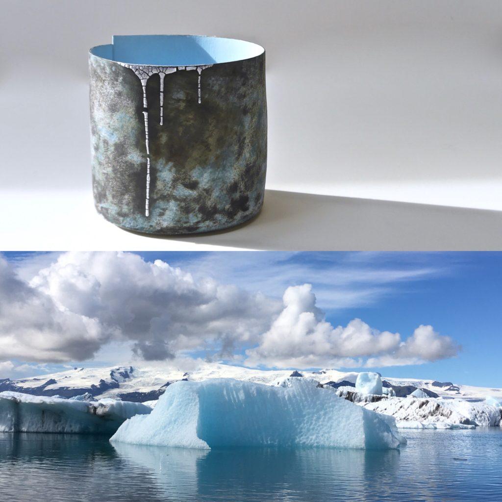 Hilary Mayo work and image of Iceland