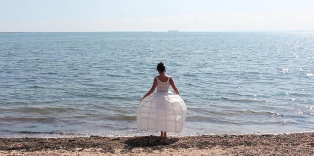 Water Rising Lynn Dennison Dress Sea