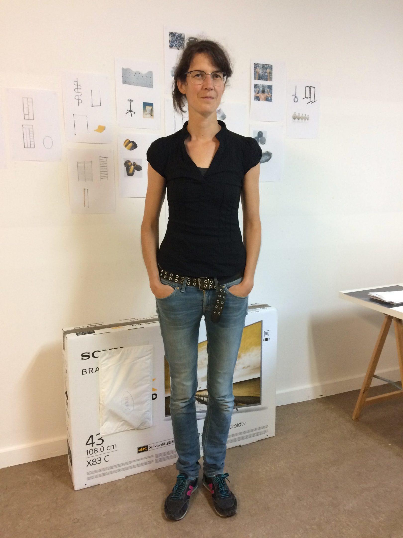 Sibylle Eimermacher in her studio