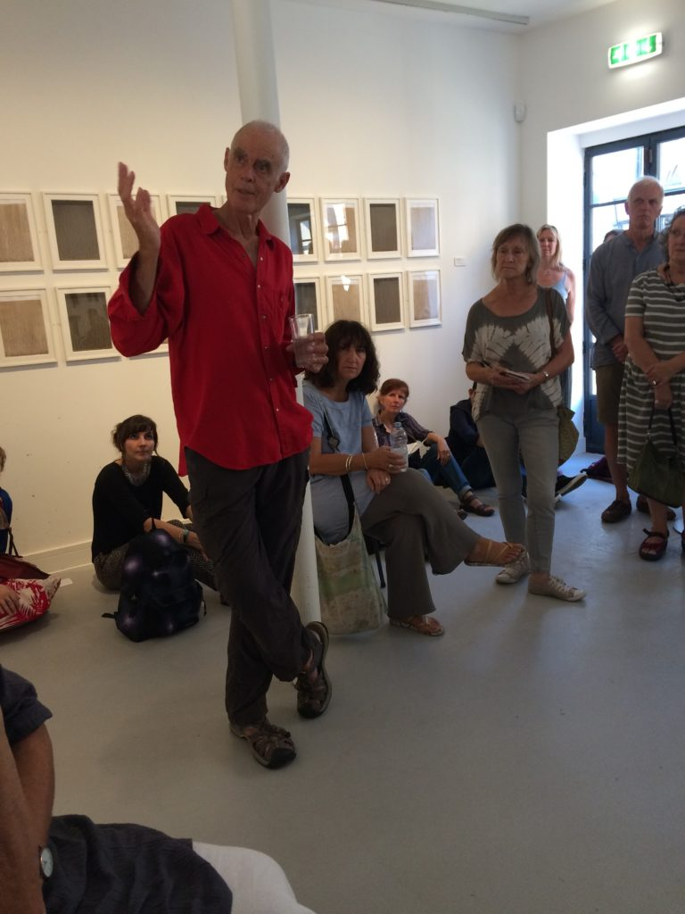About GroundWork Gallery: Richard Long talking to artists
