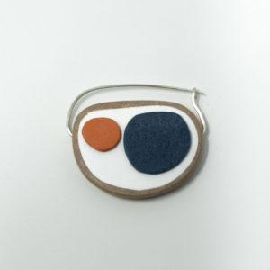 Bronwen Gwillim fibula brooch rust