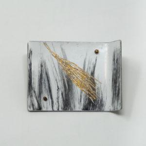 Judy McCaig Gold and black grasses pin