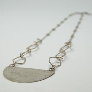 Madeleine Spencer Half Moon Silver Necklace