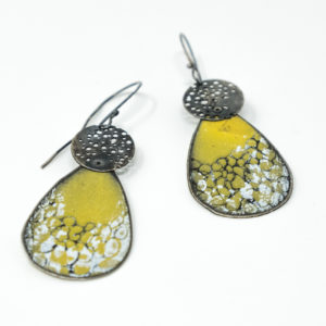 Amanda Denison Green Lacy Drop Earrings