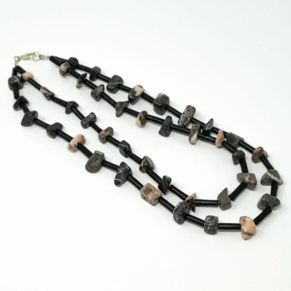 Linda McFarlane: Double Layered Tumbled Stone Necklace