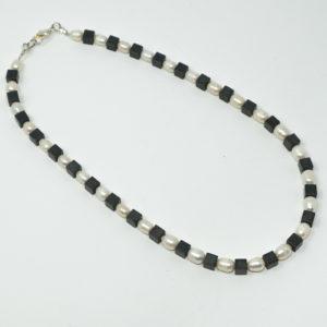 Linda McFarlane: Freshwater Pearl and Haematite Necklace