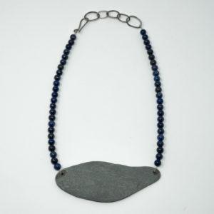 Sarah Drew Slate and Lapis necklace