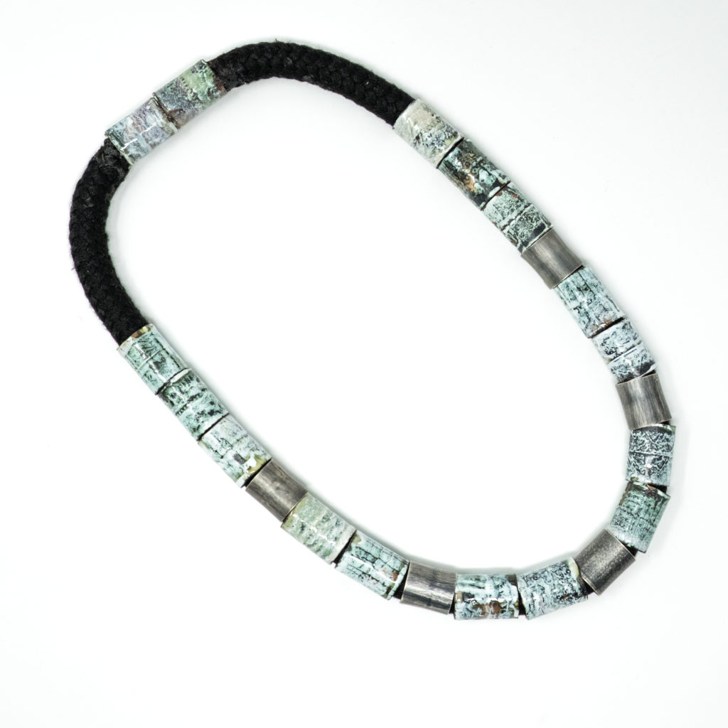 Amanda Denison tube enamel necklace