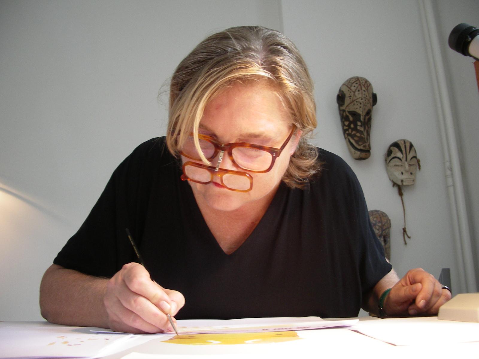 Cornelia Hesse-Honegger painting