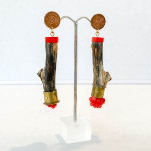 Kirsten Sonne Driftwood and Coin Earrings