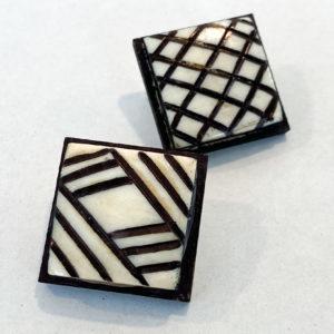 Linda McFarlane: Geometric Horn Brooches