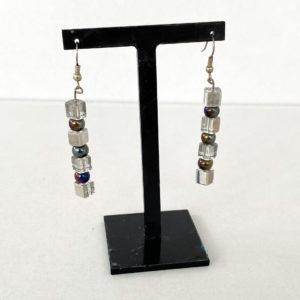 Linda McFarlane: Glass cube drop earrings