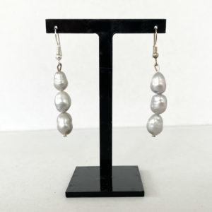 Linda McFarlane: Triple Pearl Drop Earrings