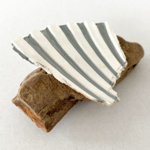 Driftwood and Sea Shell Brooch