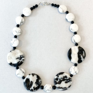 Zebra Jasper and Hematite Necklace