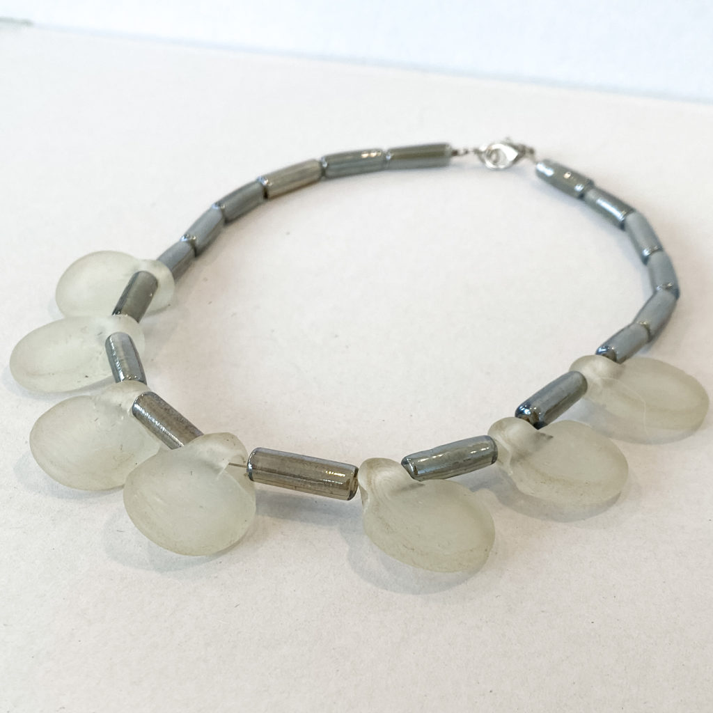 Recycled Glass Drop Necklace