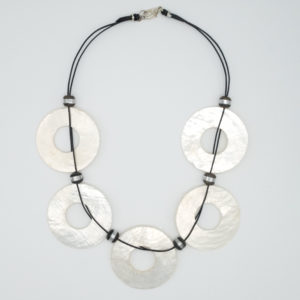 Linda McFarlane: Mother of Pearl Circular Necklace