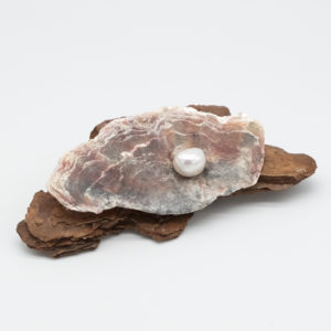 Linda McFarlane: Driftwood, Shell and Pearl Brooch