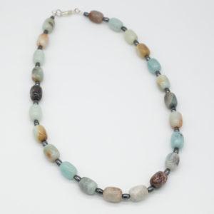 Amazonite and Haematite Necklace