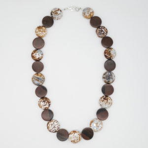 Wood and Jasper Circles Necklace