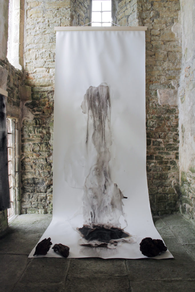 Long Peat drawing on show at SAW Festival, 2019