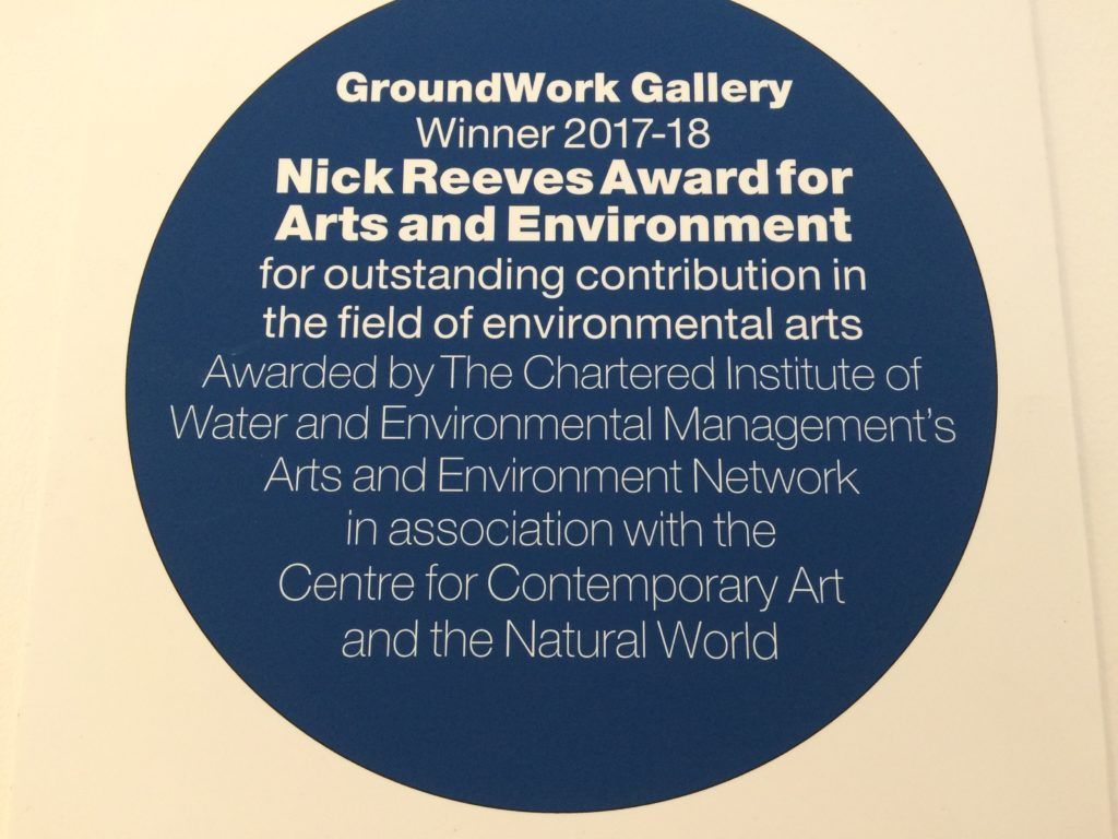 Award-winning gallery: Nick Reeves Award commemorative plaque designed by Pearce Marchbank