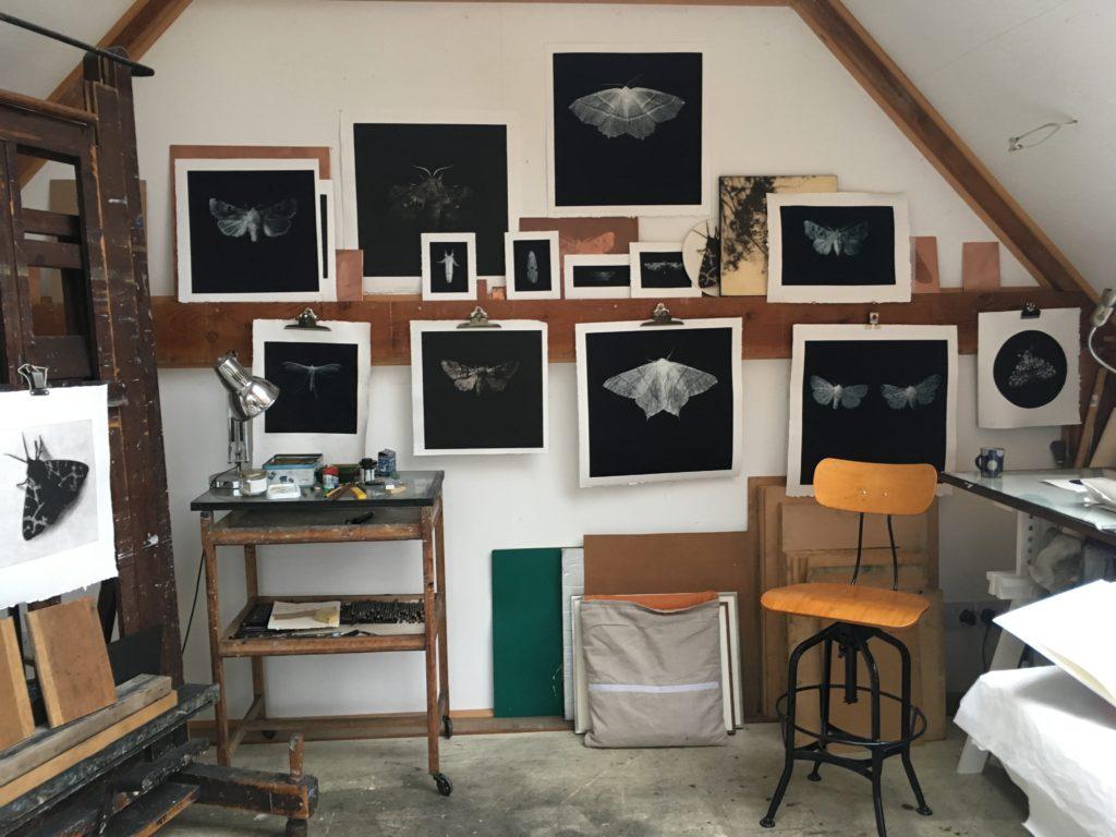 Sarah Gillespie's studio