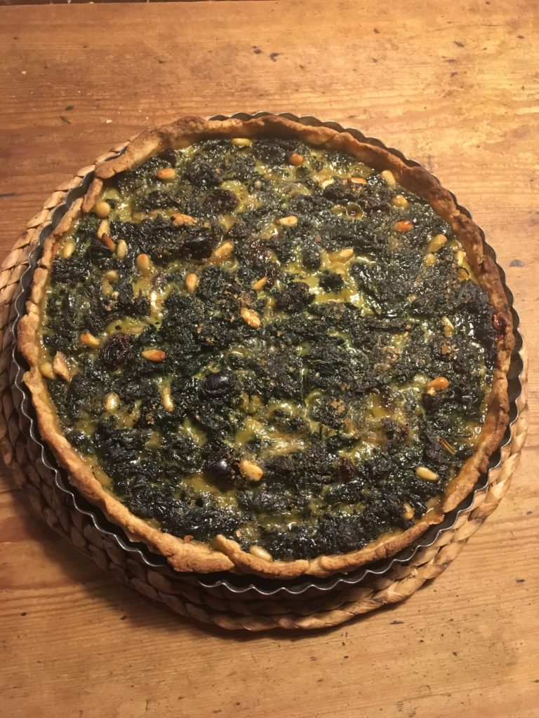 Sweet nettle tart