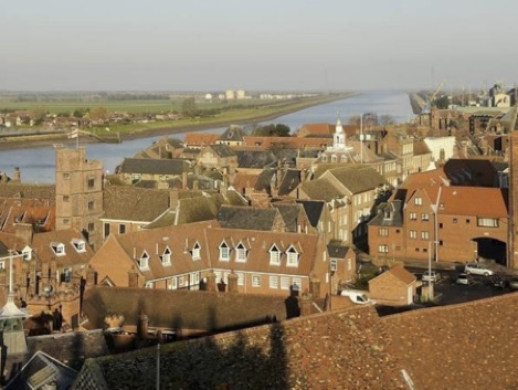 View of Kings Lynn showing almost no trees