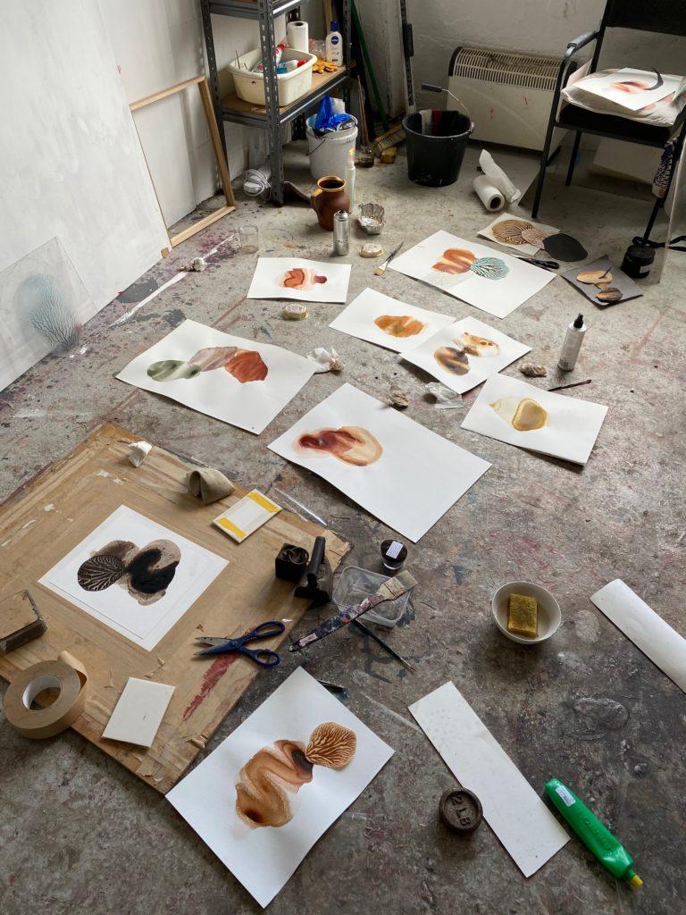 Sam Hodge work in studio