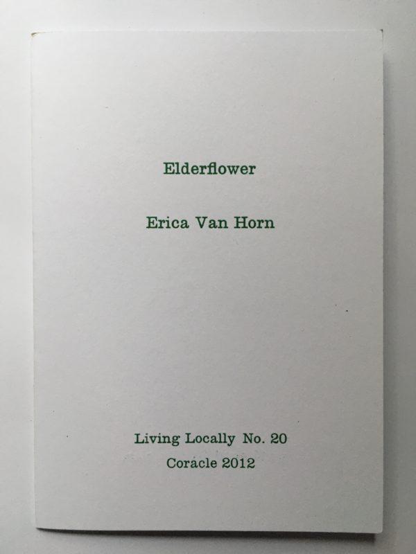 Coracle Press Elderflower Erica Van Horn