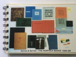 Coracle Press the Norfolk books, Spine an Spirals