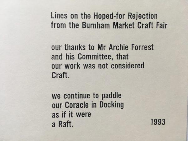 Coracle Press Burnham market