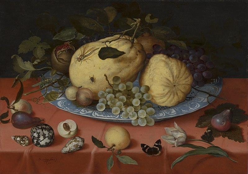 Fruit still life with shells