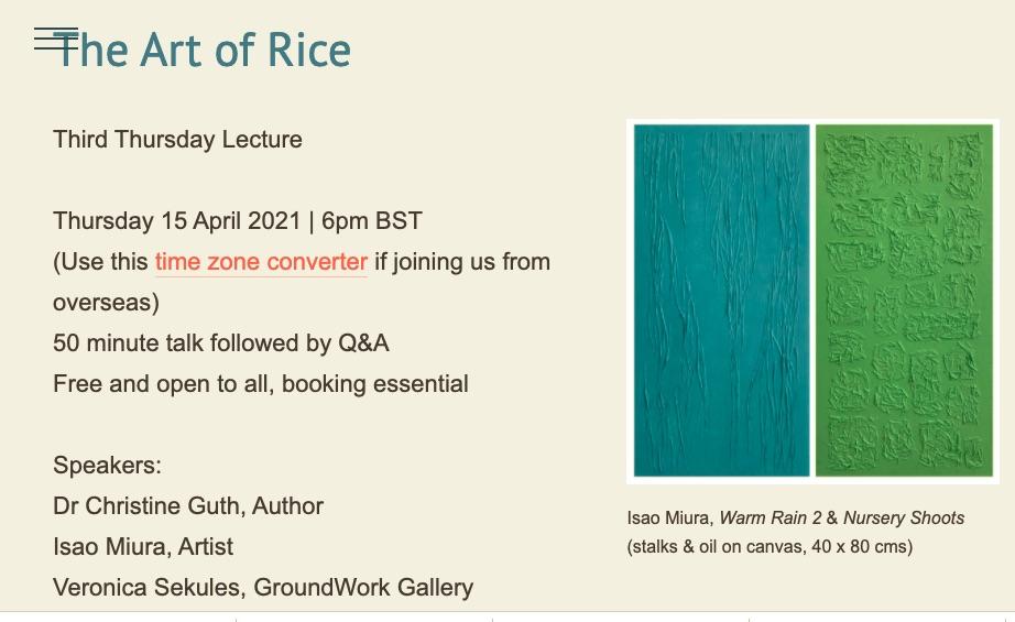 SISJAC Art of Rice event