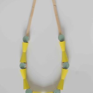 Yellow and Mint Necklace