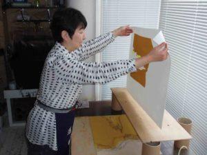 Nana Shiomi in studio
