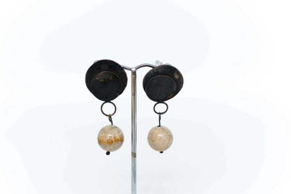 Fossil Coral Copper Earrings