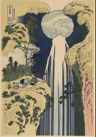 Hokusai Amida waterfall